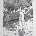 o.T., Strichätzung, Kaltnadel, Aquatinta, auf Zink gedruckt auf Büttenpapier, 21,5x29,5cm, 2014