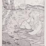 o.T., Vernis Mou, Kaltnadel, Aquatinta, auf Zink gedruckt auf Büttenpapier, 19,5x25cm, 2014
