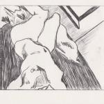 o.T., Kaltnadel, auf Plexiglas gedruckt auf Büttenpapier, 14,5x11,5cm, 2014