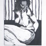 o.T., Strichätzung, Aquatinta, auf Zink gedruckt auf Büttenpapier, 17,8x22,3cm, 2014