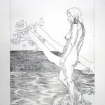 o.T., Kaltnadel, auf Plexiglas gedruckt auf Büttenpapier, 39,5x59,5cm, 2014