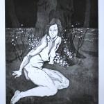 o.T., Strichätzung, Kaltnadel, Aquatinta, auf Zink gedruckt auf Büttenpapier, 24,6x31,7cm, 2014