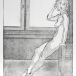 o.T., Kaltnadel, Aquatinta, auf Zink gedruckt auf Büttenpapier, 24,8x34,7cm, 2016