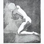 o.T., Strichätzung, Kaltnadel, Aquatinta, auf Zink gedruckt auf Büttenpapier, 22x28,3cm, 2016