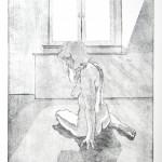 o.T., Strichätzung, Kaltnadel, Aquatinta, auf Zink gedruckt auf Büttenpapier, 28,7x44,6cm, 2016