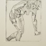 o.T., Kaltnadel, auf Zink gedruckt auf Büttenpapier, 14x12cm, 2015