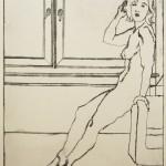 o.T., Kaltnadel, auf Zink gedruckt auf Büttenpapier, 34,5x24,5cm, 2015