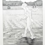 o.T., Kaltnadel, Strichätzung, Aquatinta, auf Zink gedruckt auf Büttenpapier, 40x29,5cm, 2016