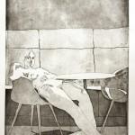 o.T., Strichätzung, Aquatinta, auf Zink gedruckt auf Büttenpapier, 69,2x119cm, 2015
