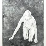 o.T., Kaltnadel, Aquatinta, auf Zink gedruckt auf Büttenpapier, 25x35cm, 2016