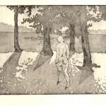 o.T., Strichätzung, Aquatinta, auf Zink, gedruckt auf Büttenpapier, 60x40cm, 2016