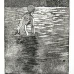 o.T., Strichätzung, Kaltnadel, Aquatinta, auf Zink, gedruckt auf Büttenpapier, 16,7x20,5cm, 2016