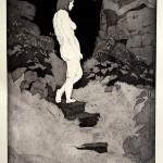 o.T., Strichätzung, Aquatinta, auf Zink, gedruckt auf Büttenpapier, 60x80cm, 2016