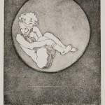 o.T., Strichätzung, Aquatinta, auf Zink, gedruckt auf Büttenpapier, 30x40cm, 2016