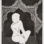 o.T., Kaltnadel, Aquatinta, auf Zink, gedruckt auf Büttenpapier, 30x40cm, 2016
