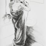 Die Badenden III, Lithographie vom Stein, auf Büttenpapier, 42x59,4cm, 2017