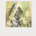 """aus der Serie """"lumen"""" III/II, Lithographie auf Büttenpapier, Unikat, 14x20 cm, 2018"""