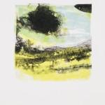 """aus der Serie """"lumen"""" IX/VI, Lithographie auf Büttenpapier, Unikat, 14x20 cm, 2018"""