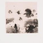 """aus der Serie """"lumen"""" I/V, Lithographie auf Büttenpapier, Unikat, 14x20 cm, 2018"""