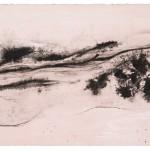 """aus der Serie """"lux"""" II/I, Lithographie auf Büttenpapier, Unikat, 17,5x30,5 cm, 2018"""