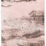 """aus der Serie """"lux"""" I/I, Lithographie auf Büttenpapier, Unikat, 17x22,7 cm, 2018"""
