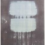 dawn X, Lithographie (Unikat) auf Büttenpapier, 67x85cm, 2018