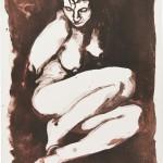 dim II, Lithographie auf Büttenpapier, Unikat, 42x59,4 cm, 2018