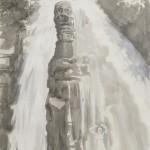 """""""cascade"""", Tusche auf Papier, 70x177 cm, 2018"""