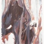 """""""rupture"""" III, Lithographie auf Büttenpapier, Unikat, 66x79 cm, 2018"""