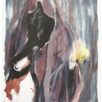 """""""rupture"""" II, Lithographie auf Büttenpapier, Unikat, 66x79 cm, 2018"""