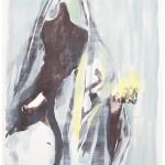 """""""rupture"""" VIII, Lithographie auf Büttenpapier, Unikat, 66x79 cm, 2018"""