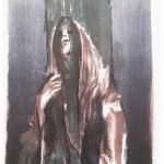 Madonna IV, Lithographie auf Büttenpapier, Unikat, 42x59,4 cm, 2018
