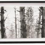 scenic II, Tusche auf Japanpapier, 23x34 cm, 2018