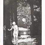 longing, Radierung auf Büttenpapier, 33,7x46 cm, 2019