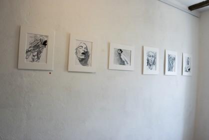 """Ausstellungsansicht """"Fachwerk im Fachwerk"""", Ausgewählte Positionen der Klasse Anzinger der Kunstakademie Düsseldorf, Kunsthaus Metmann, Metmann, 2017"""