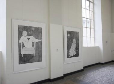 Ausstellungsansicht beim Rundgang, Kunstakademie Düsselorf, Düsseldorf, 2017