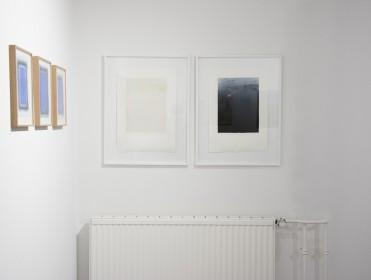 """Ausstellungsansicht """"Pass auf Anzinger"""", d/d contemporary art gallery, Düsseldorf, 2017"""