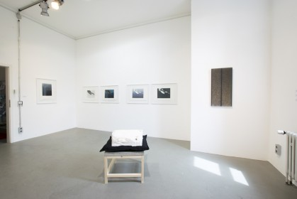 """Ausstellungsansicht """"augenfällig / fresh positions"""", BBK Kunstforum, Düsseldorf, 2018"""